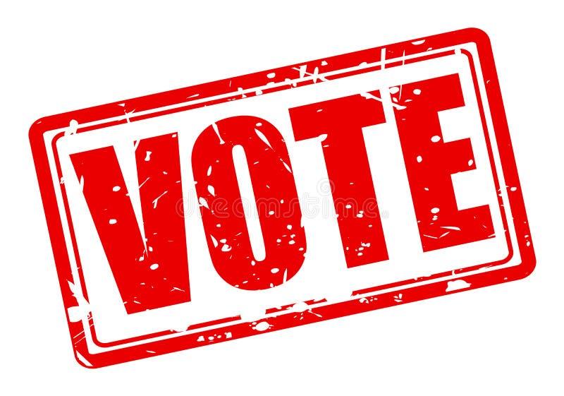 Texto vermelho do selo do voto ilustração do vetor