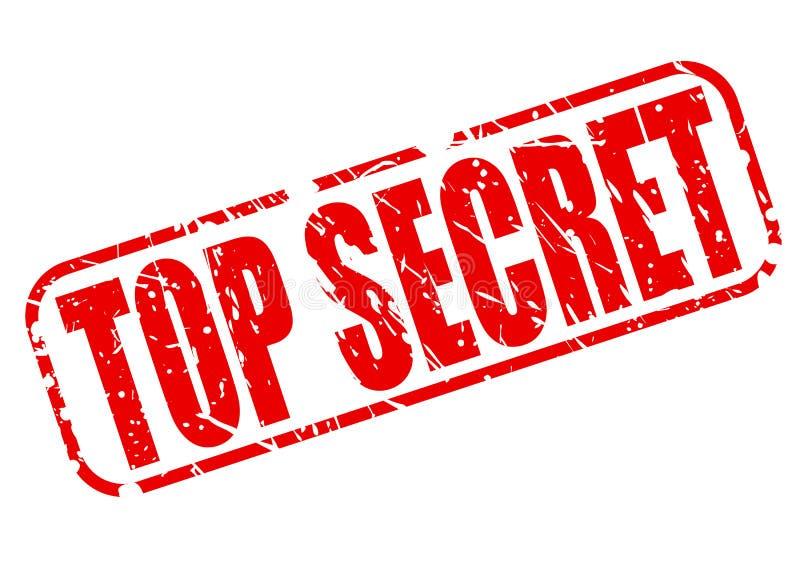 Texto vermelho extremamente secreto do selo ilustração royalty free