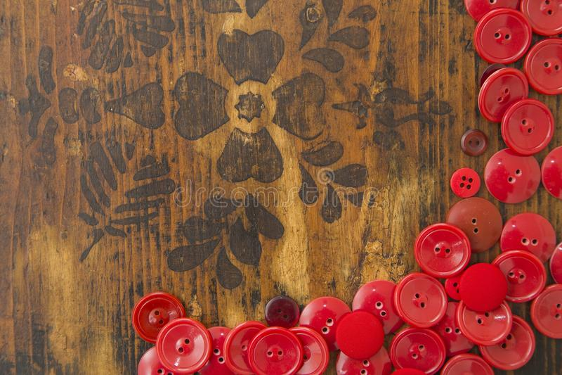Textområde för röd knapp royaltyfri bild