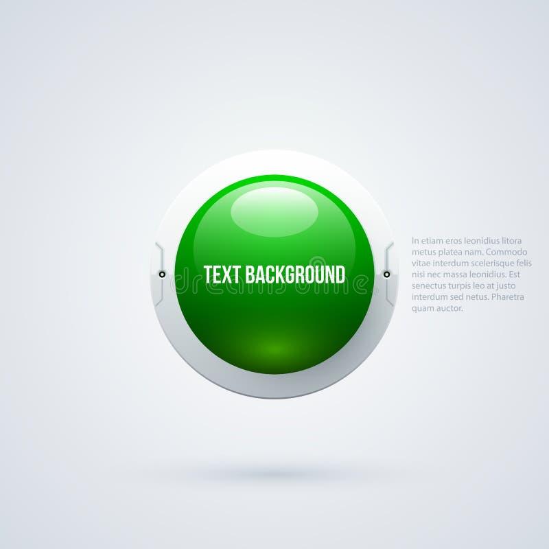 Textotez le fond avec la sphère 3d verte dans le style de pointe illustration stock
