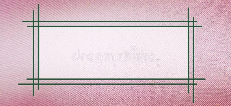 Textrahmen auf rosa Stoffbeschaffenheit stock abbildung