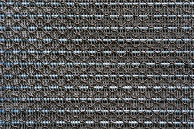 Textrue do painel de alumínio refrigerando velho da aleta do compressor de ar ou foto de stock royalty free