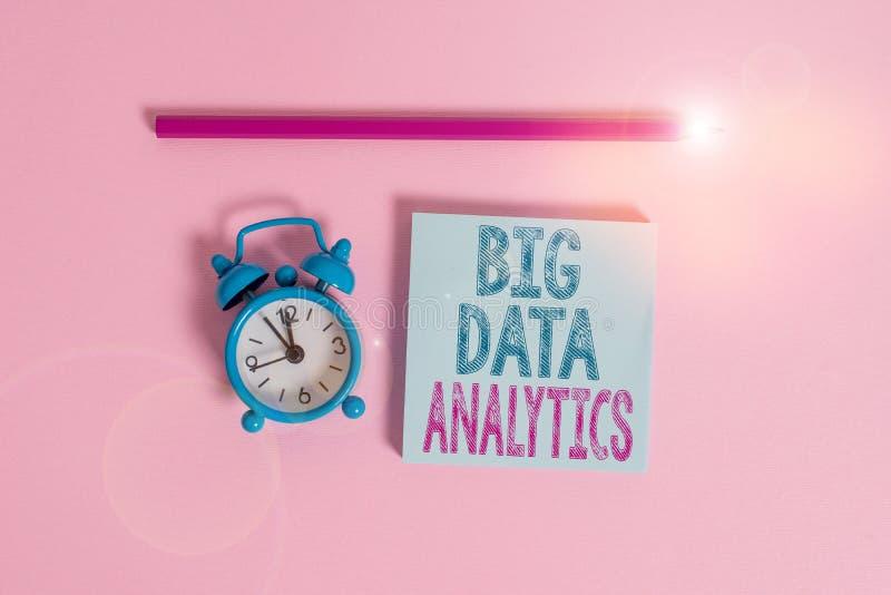 Textschreiben Big Data Analytics Business Concept for The process for the process for the investigation großer und vielfältiger D stockfoto