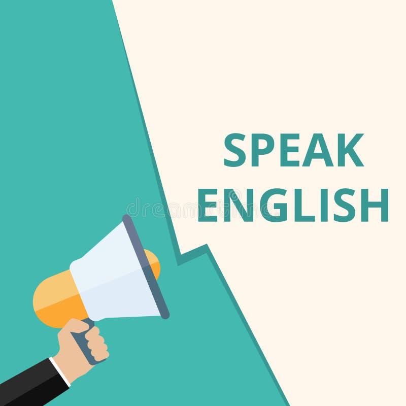 Textschreiben sprechen Englisch lizenzfreie abbildung
