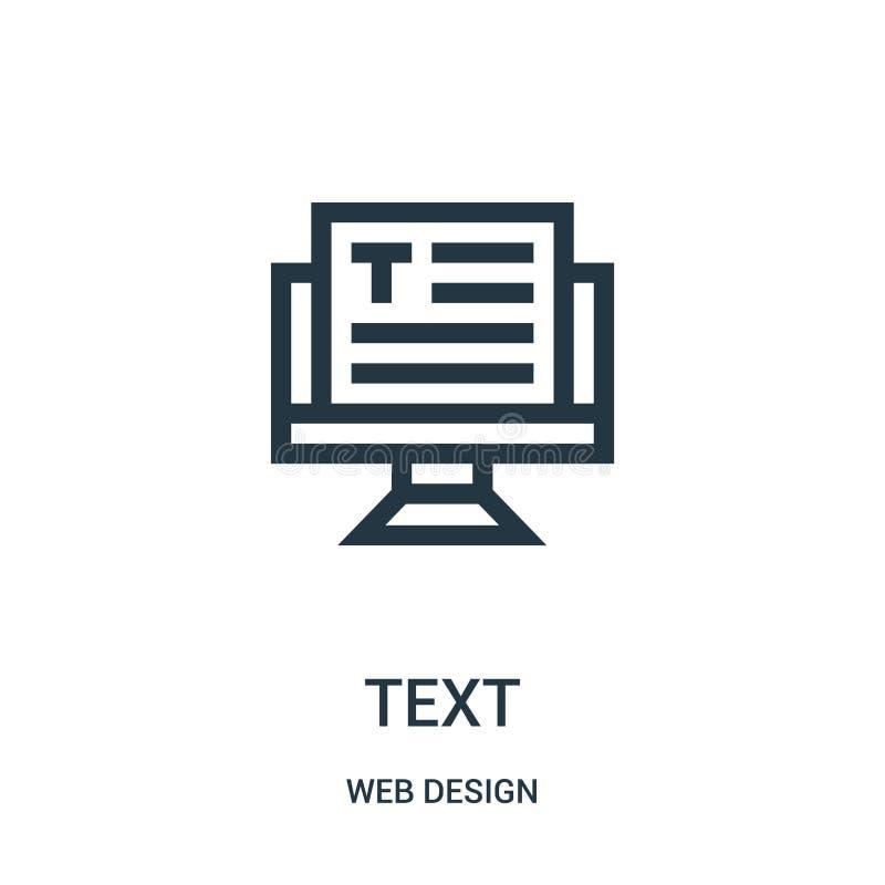 textsymbolsvektor från samling för rengöringsdukdesign Tunn linje illustration för vektor för textöversiktssymbol royaltyfri illustrationer