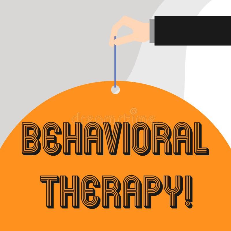 Texttecken som visar beteende- terapi Begreppsmässig fotohjälp att ändra potentiellt selfdestructive uppföranden royaltyfri illustrationer