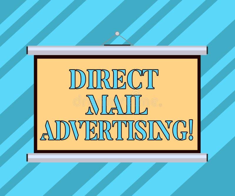 Texttecken som visar direkt post som annonserar Det begreppsmässiga fotoet levererar marknadsföringsmaterial till klienten av det vektor illustrationer