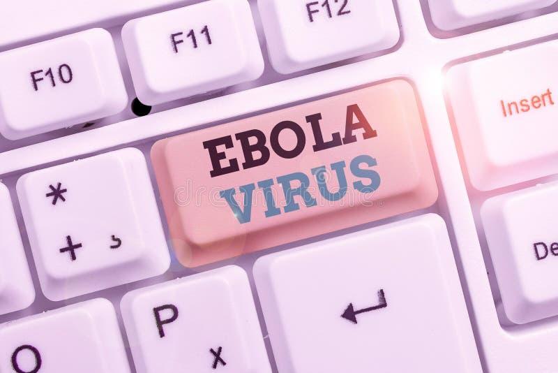 Texttecken som visar Ebola Virus Konceptuellt foto: virushemorragisk feber hos huanalytiker och andra primater arkivbilder
