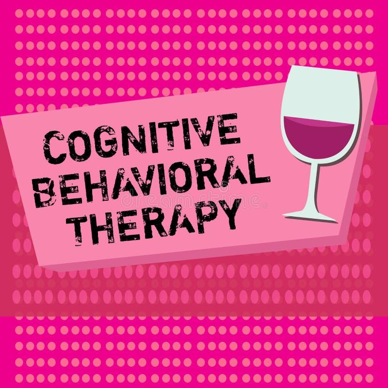 Texttecken som visar kognitiv beteende- terapi Psykologisk behandling för begreppsmässigt foto för psykiska störningar royaltyfri illustrationer