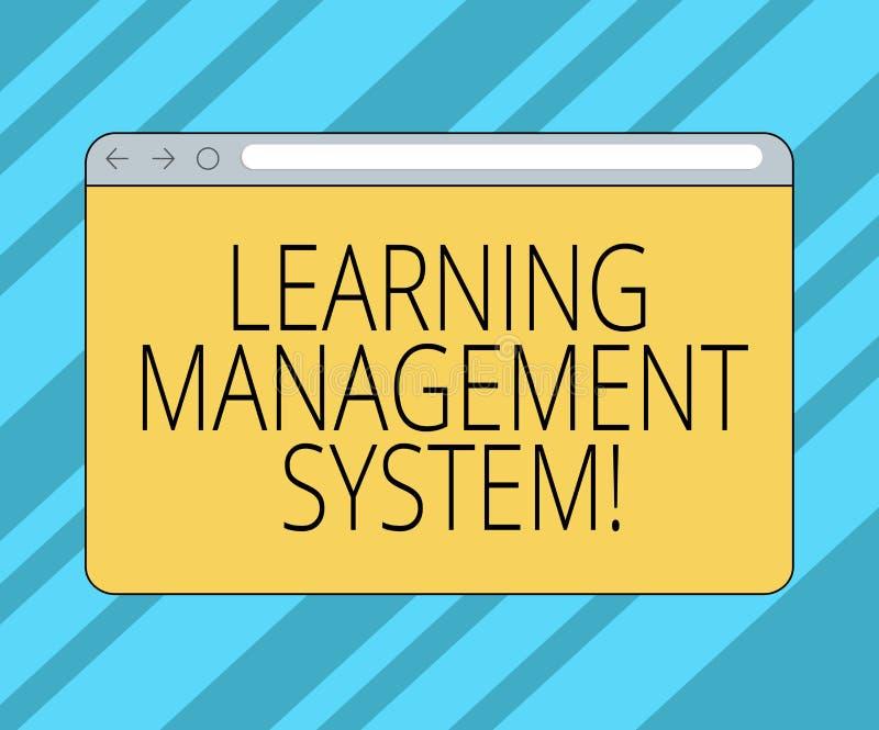 Texttecken som visar lära ledningsystemet Den begreppsmässiga fotoprogramvaruapplikationen, som är van vid, administrerar bildskä vektor illustrationer