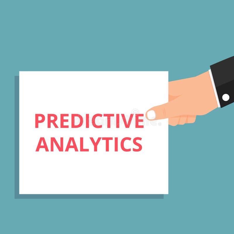 Texttecken som visar Predictive Analytics stock illustrationer
