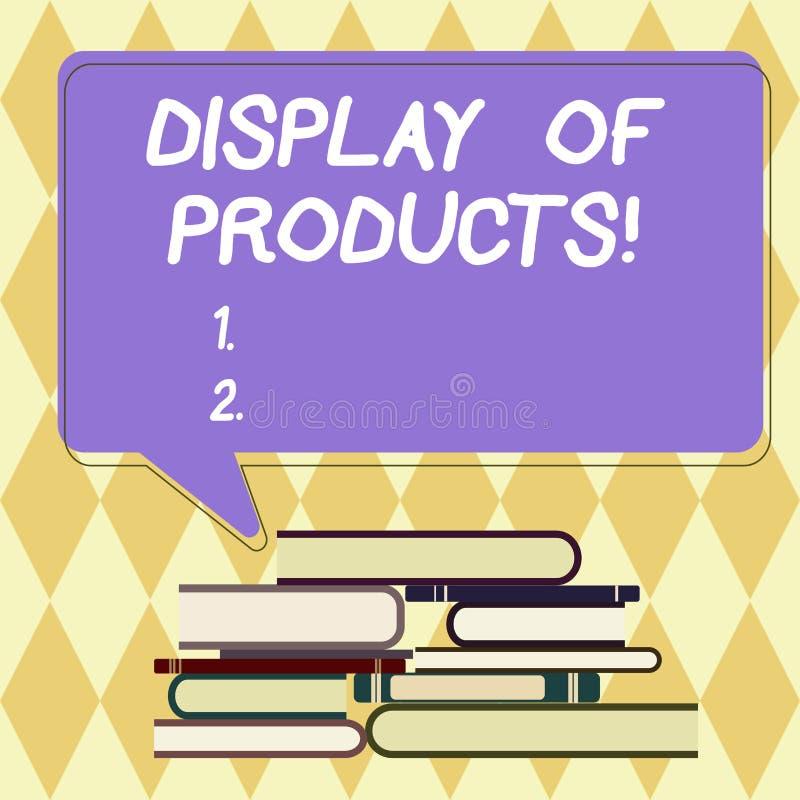 Texttecken som visar skärm av produkter Begreppsmässig fotoväg att tilldra och locka köpande allmänhet som använder show ojämn hö royaltyfri illustrationer