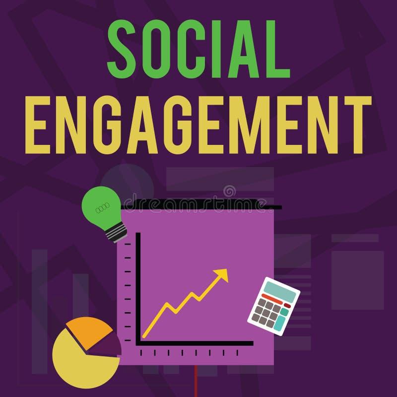 Texttecken som visar social koppling Begreppsmässig fotograd av kopplingen i online-en gemenskap- eller samhälleinvestering stock illustrationer