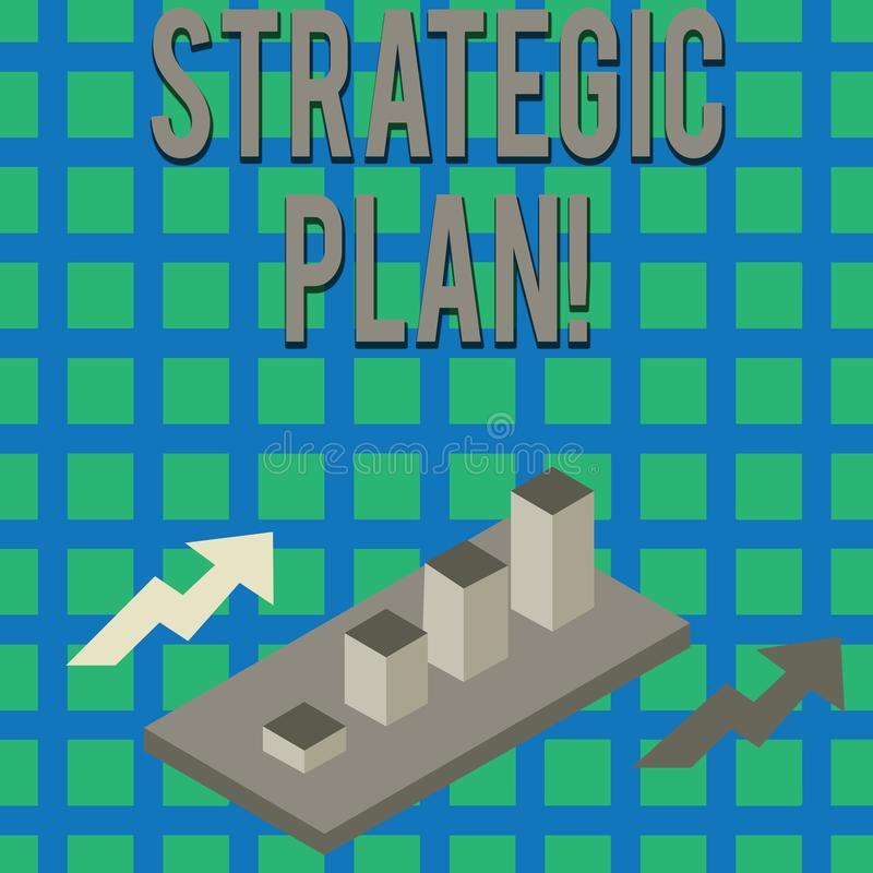 Texttecken som visar strategiskt plan Begreppsm?ssig fotoanalysisagementaktivitet som ?r van vid upps?ttning- och fokusprioritete royaltyfri illustrationer