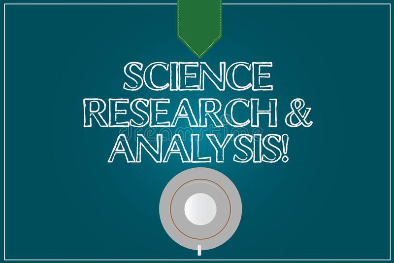 Texttecken som visar vetenskapsforskning och analys Kopp för kaffe för experiment för utredning för begreppsmässigt fotolaborator vektor illustrationer