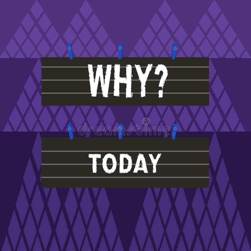 Texttecken som visar Whyquestion Det begreppsmässiga fotoet som frågar för specifika svar av något, förhör frågar färg två royaltyfri illustrationer