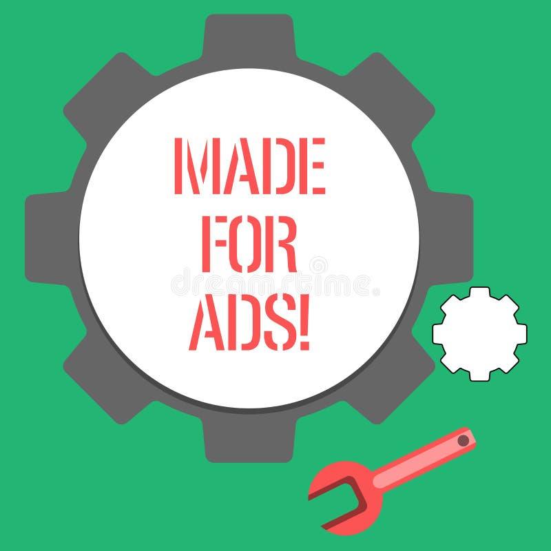Textteckenvisning som göras för annonser Begreppsmässiga designer för fotomarknadsföringsstrategier för promotionals för en aktio stock illustrationer