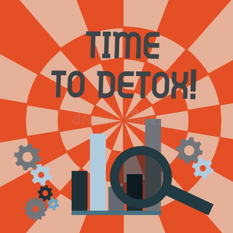 Textteckenvisning Tid till detoxen Begreppsmässigt foto, när du renar din kropp av toxin eller att stoppa att konsumera drogförst vektor illustrationer