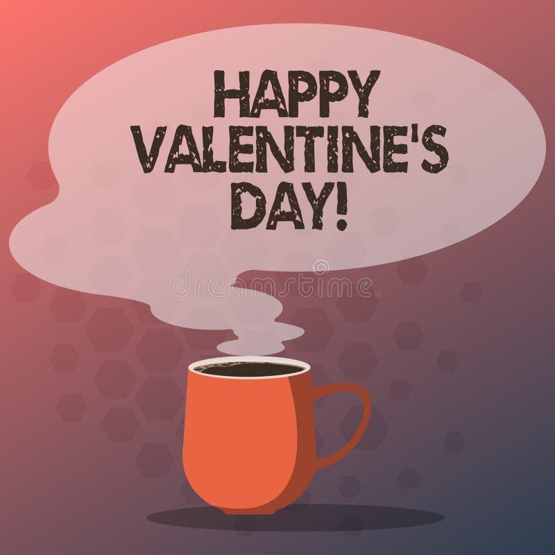 Texttecknet som visar lycklig valentin S, är dagen Det begreppsmässiga fotoet, när vänner uttrycker deras affektion med hälsninga vektor illustrationer