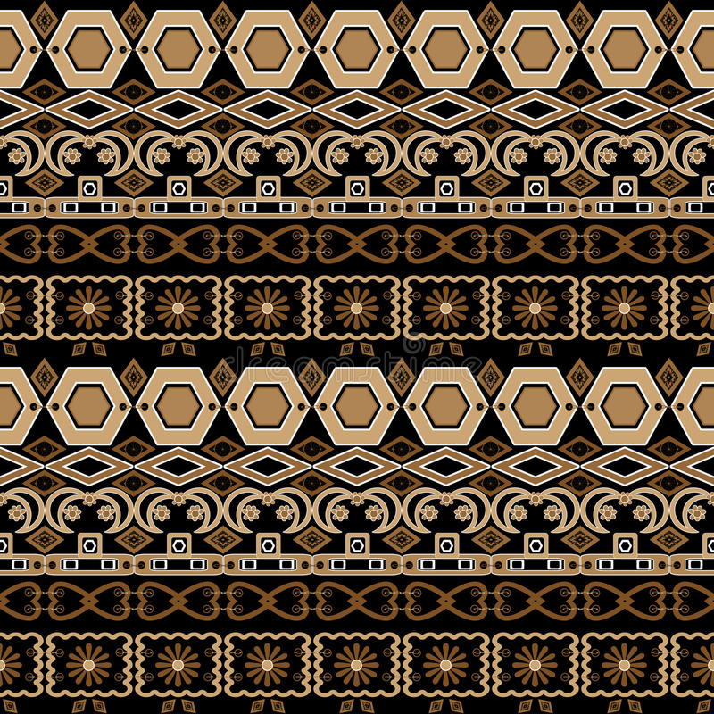 Textu floral d'éléments de modèle d'arabesque sans couture oriental de damassé illustration de vecteur