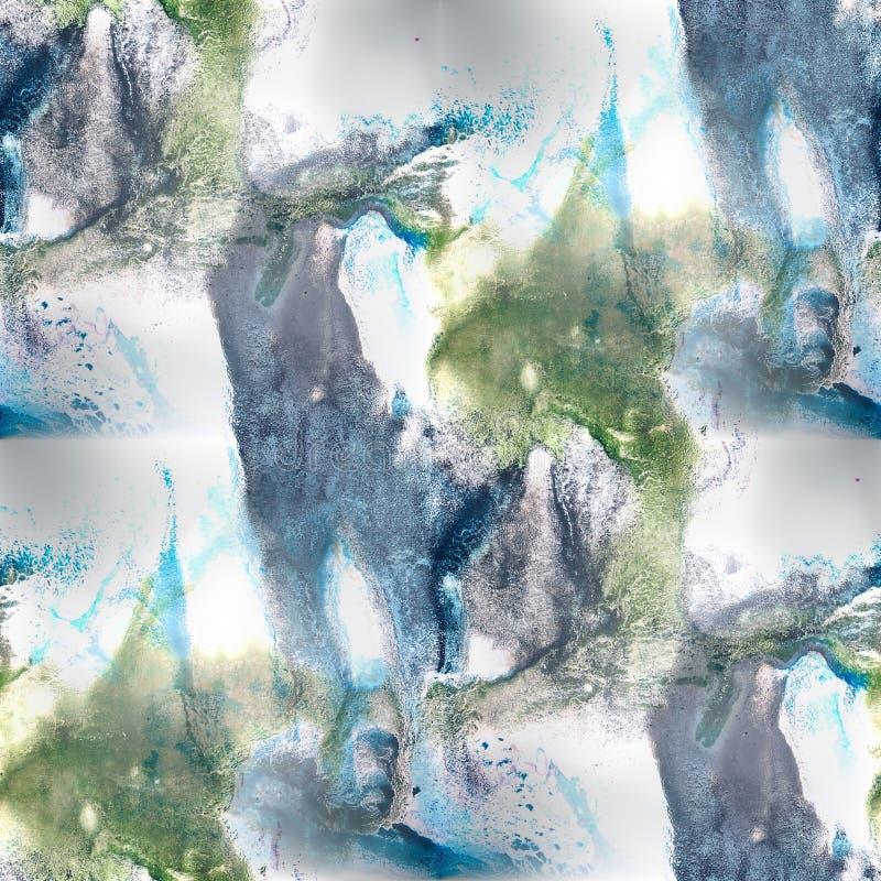 Textu inconsútil del fondo del modelo del verde azul del fondo mural libre illustration
