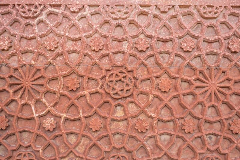 Textur av behandla som ett barn den Taj Mahal väggen royaltyfria bilder