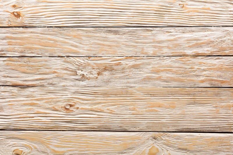 Textur av bräden av ljust gammalt vitt trä arkivfoto
