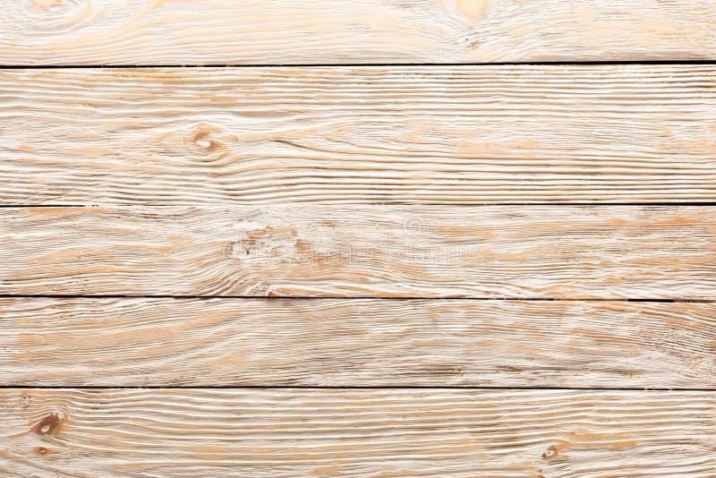 Textur av bräden av ljust gammalt vitt trä arkivbild