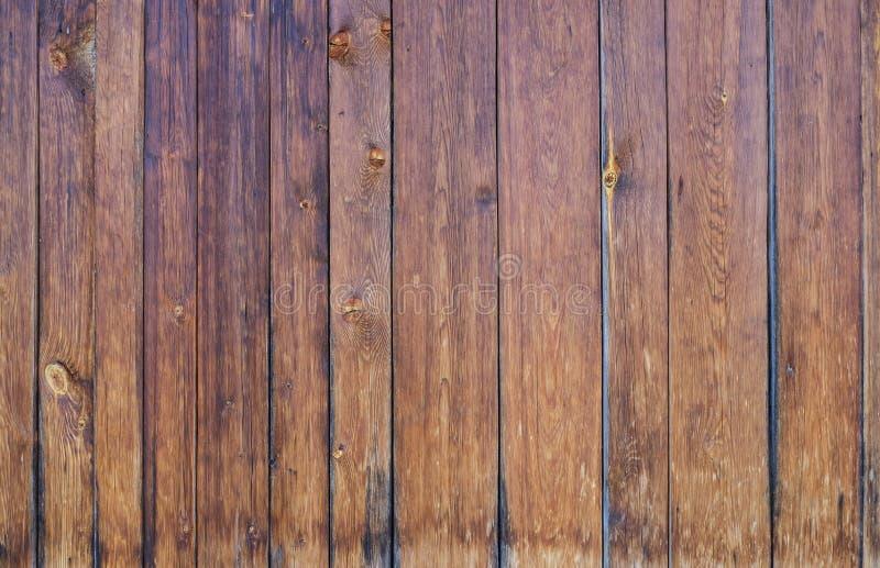 Textur av brunt gammalt trä från flera bräden royaltyfria foton