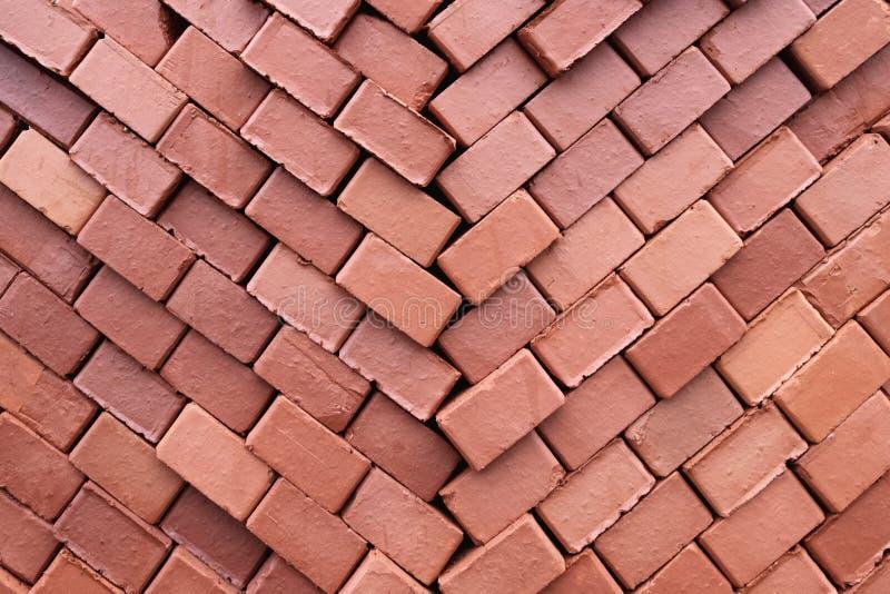 Textur av byggnadstegelstenar vikta för lagring arkivbild