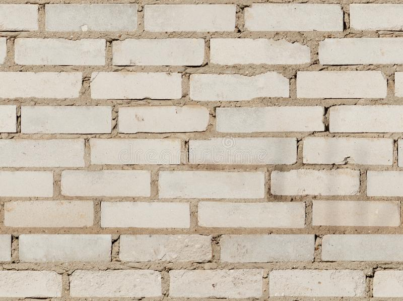 Textur av den gamla vita tegelstenväggen fotografering för bildbyråer