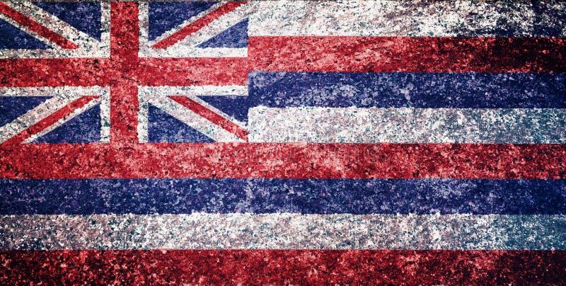 Textur av den Hawaii flaggan vektor illustrationer