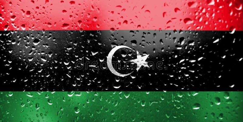 Textur av den Libyen flaggan arkivfoto