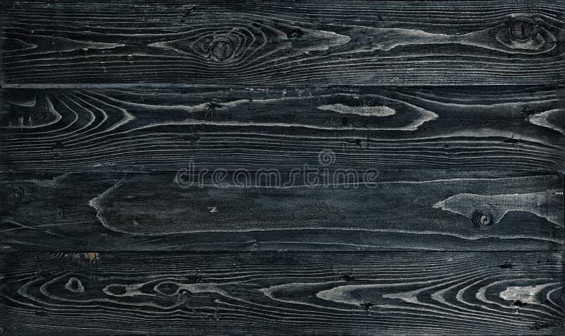 Textur av den mörka wood tabellen svart tappning för bakgrund arkivbilder