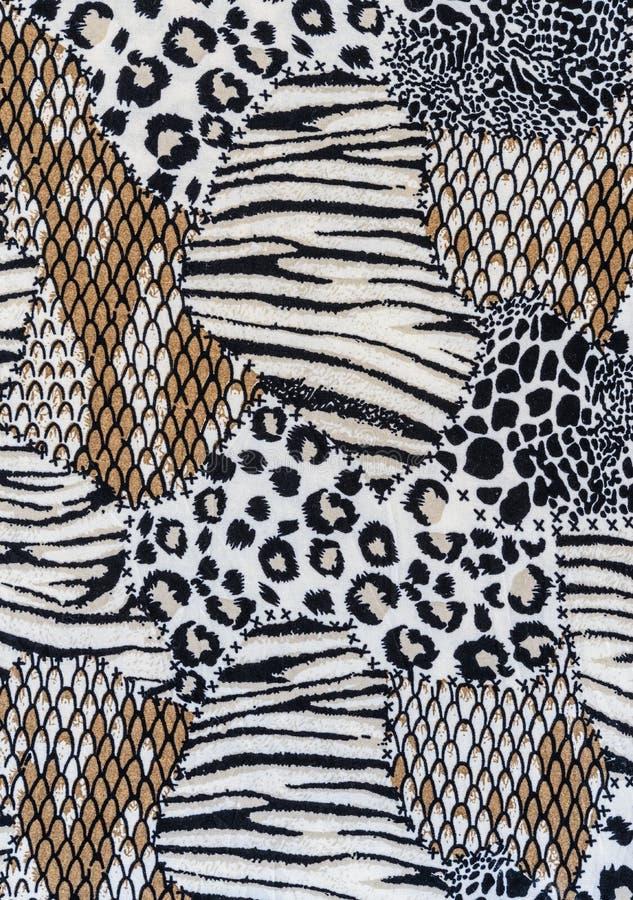 Textur av den randiga leoparden för tyg arkivfoton