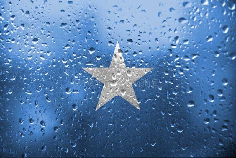 Textur av den Somalia flaggan royaltyfri foto