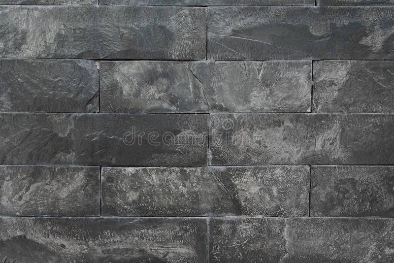 Textur av den svarta marmorväggen royaltyfria bilder