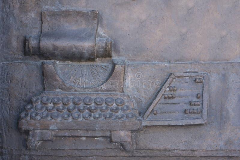 Textur av den tappningskrivmaskinen och kulrammet royaltyfri fotografi