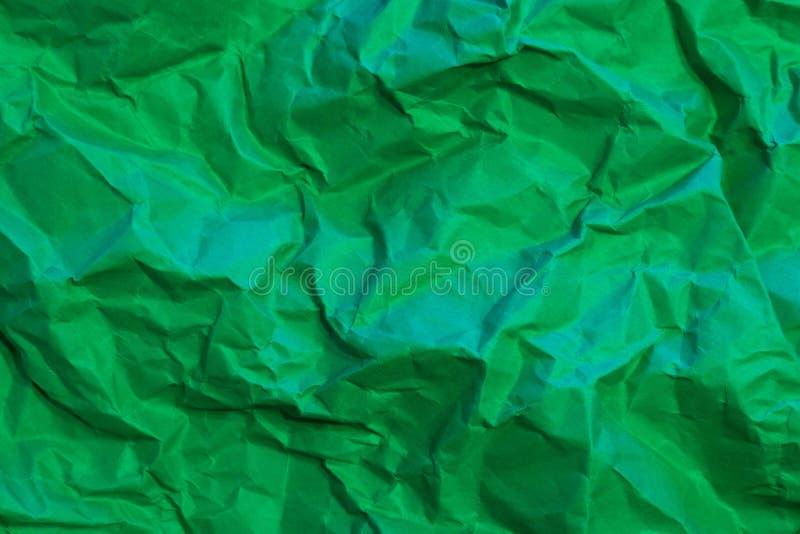 Textur av det skrynkliga arket av papper som bakgrund arkivbild