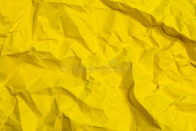 Textur av det skrynkliga arket av papper som bakgrund fotografering för bildbyråer