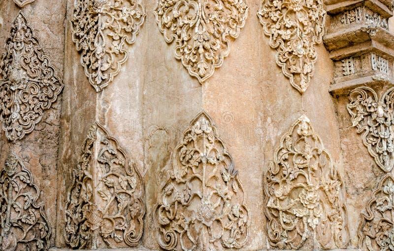 Textur av det vita färgträdet för stuckatur arkivbild
