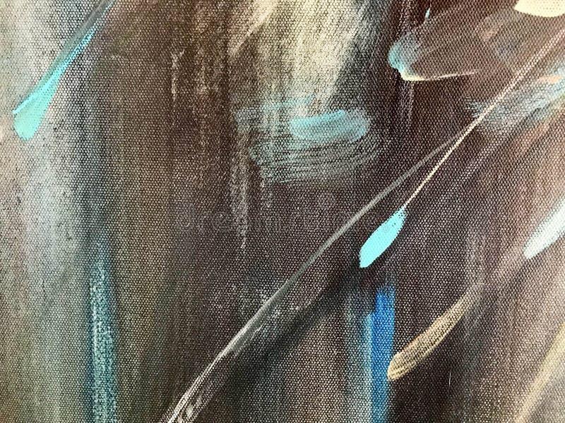 Textur av färgad kulör målarfärg av mång--färgat papper, papp med linjer av band som befläckas med målarfärgfläckar av grå röd gu royaltyfri illustrationer