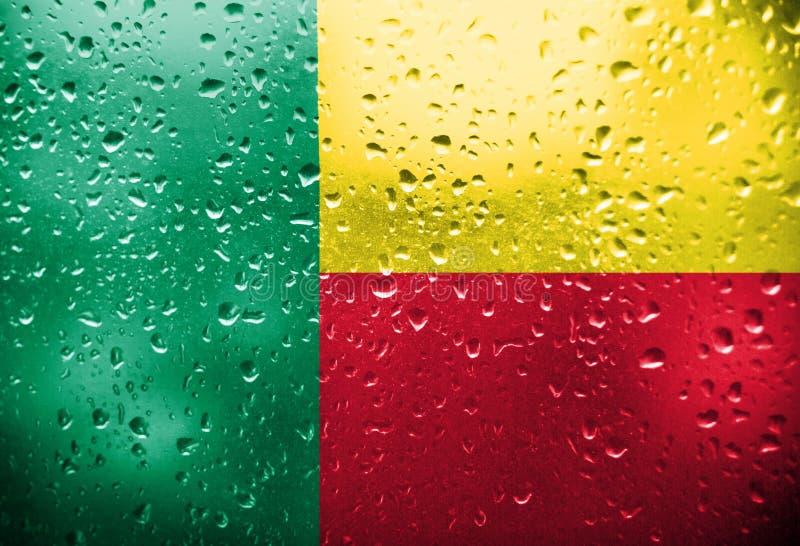 Textur av flaggan av Benin royaltyfri fotografi
