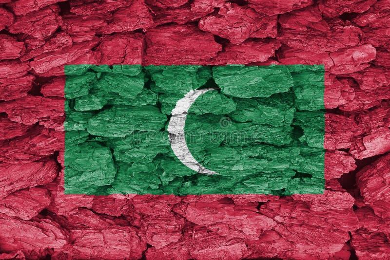 Textur av flaggan av Maldiverna arkivfoton