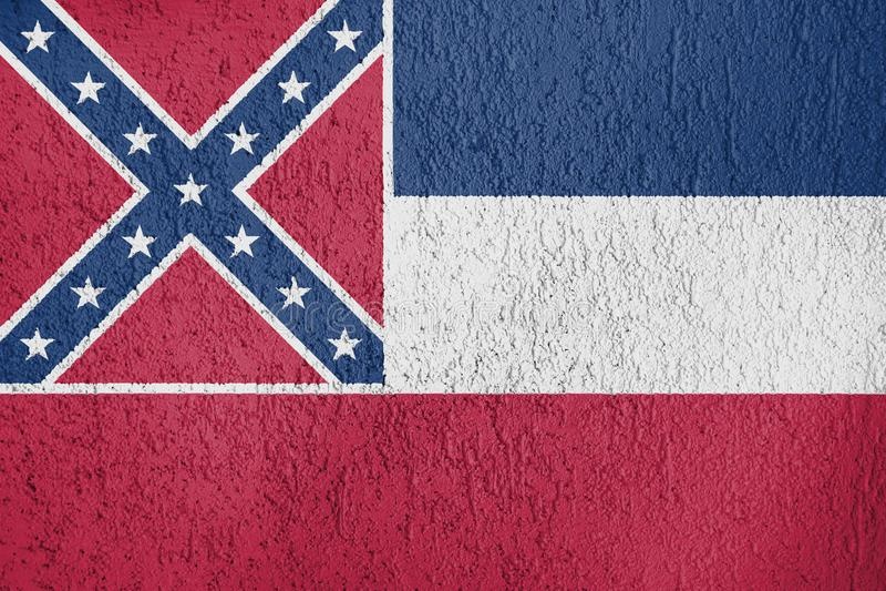 Textur av flaggan av Mississippi arkivbilder