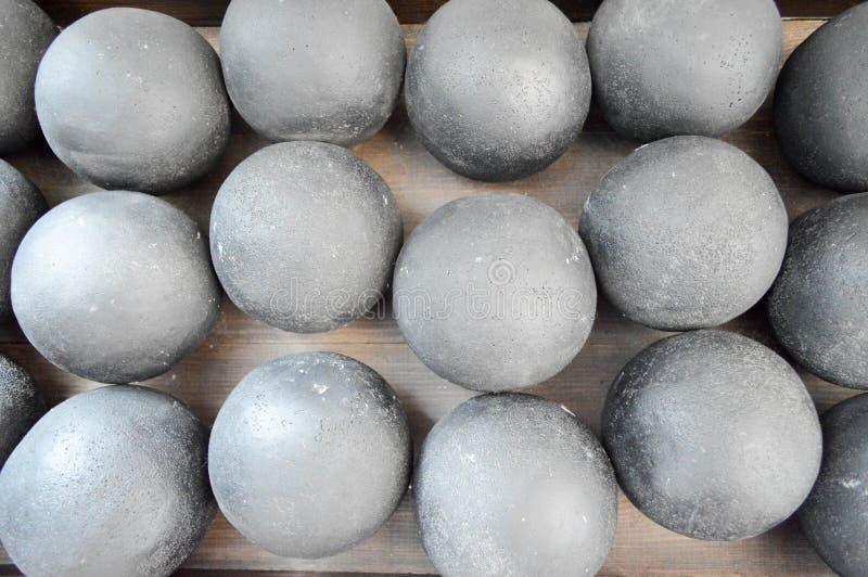 Textur av grått metalliskt för gammal antik stridrunda, järn, sten c arkivbild