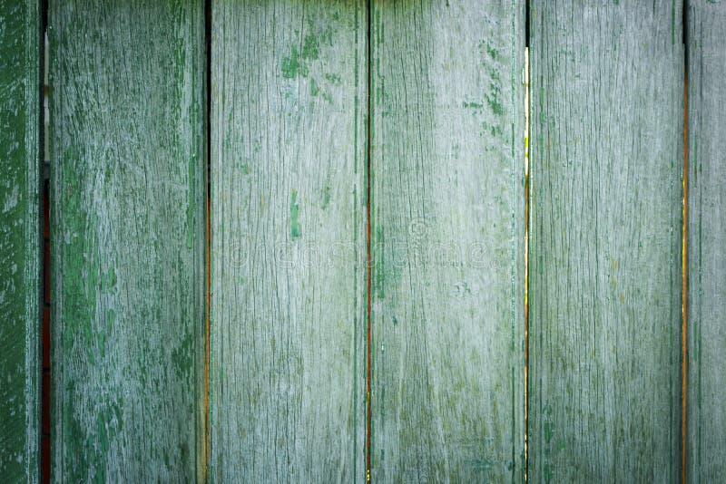 Textur av gröna bräden på staketet royaltyfria bilder
