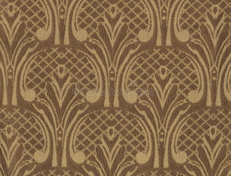 Textur av mörkt siden- tyg med en överdimensionerad broderad blom- modell stock illustrationer