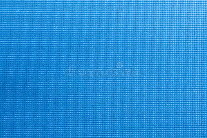 Textur av matt textur för blå färgyoga Bästa sikt för yogamadrass arkivbild