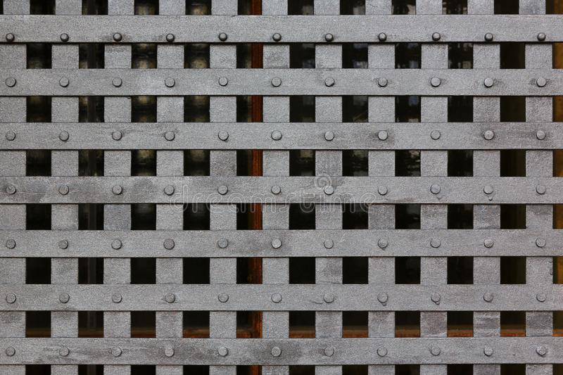 Textur av metallburen royaltyfria foton